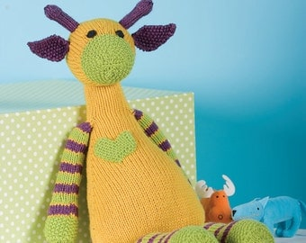 Mango the Giraffe Toy knitting pattern