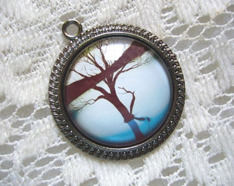 Light Blue Reflections Tree Pendant Free Shipping in USA