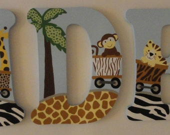 Safari Express Handpainted Coordinating Wall Letters