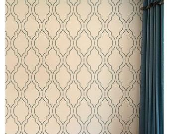 Sophia Trellis Allover - Large - Stencil designs for home decor - Wall stencils for cheap room makeover!