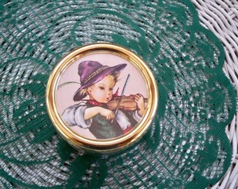 Vintage Collectible Music Box Bohme Music Box Germany Memory Label