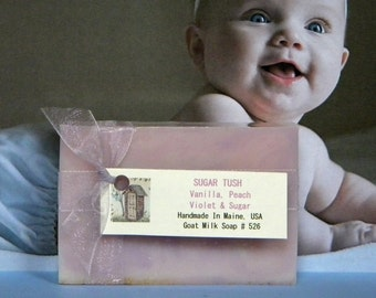 SUGAR TUSH Vanilla Oatmeal Soap - Goat Milk Soap - Handmade Soap