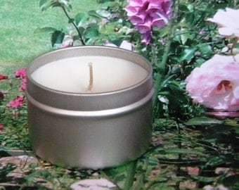 COUNTRY AIRE Fresh Air & Peony Soy Candle Tin - Handmade Soy Candles