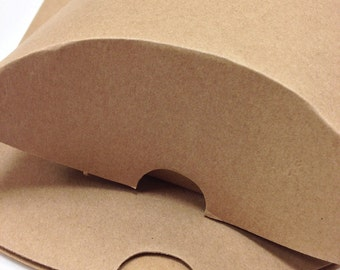 DIY Brown Large Size Kraft Pillow Boxes - set of 50 - Perfect for Embellishing with Deco Tapes - 7 x 5 1/2 x 2 Inches