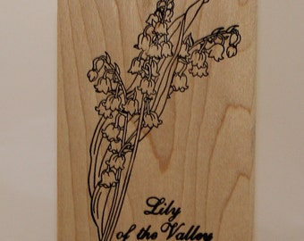 Lily of the Valley MAY Flowers Rubber Stamp Happens Bible Journaling