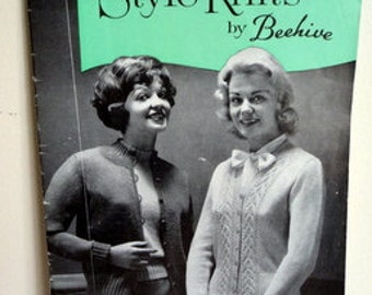 Vintage 1950's 'Style Knits by Beehive' Pattern Book // Nordic Cardigan // Pullover