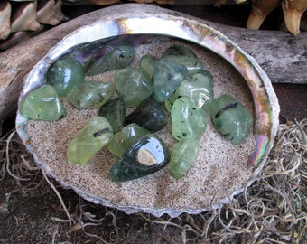 Rita's Prehnite Epidote Ritual Crystal - Perception, Instincts - Pagan, Magic, Hoodoo, Witchcraft, Juju