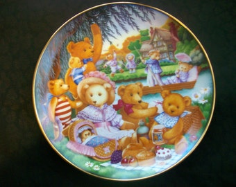 "A Teddy Bear Picnic 8"" Collector Plate"