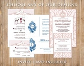 Digital Printable Mini Wedding DIY Invitation Suite - Choose Any Design