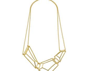 Bridal Necklace, Geometric Jewelry, Geometric Necklace, Xmas Gift, Bridesmaid Necklace, neck piece