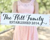 Personalized Flower Girl Ring Bearer Wedding Family Sign (Item Number MHD20007)