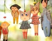 Ceramic Marionette----Anna dolls----Gift-Sweet- Doll--moblie.-Modern--home decor-Chrsitmas gift--Gift under 50 USD