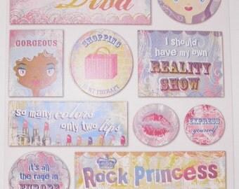 Make Up Diva Stickers