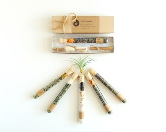 Organic & All Natural Bath Salt Test Tubes Set of 10, Mother's Day Gift, Wedding Favor, Hotel, Spa, Eco, Luxury Gift Set, Test Tube Favor