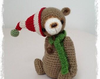 OOAK Miniature Crochet THREAD ARTist Miniature Elf Bear Pattern 'Smores' by TheTinyToyBox