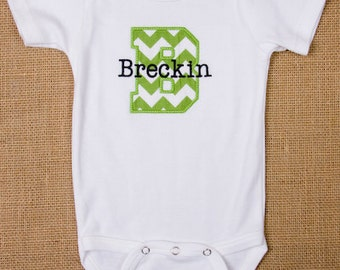 Personalized Initial Applique Onesie or Tee