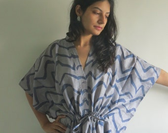 Gray Chevron Nursing Maternity Hosptial Gown Delivery Kaftan Perfect as loungewear, getting ready, beachwear gift for moms n to be moms