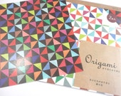 Triangle Windmills Origami Paper Plus Origami Folding Instructions ( 20 sheets total - 10 in black , 10 in white )