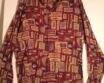 Woolrich dress shirt hunter men heritage nostalgia boho grunge XL
