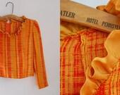 60's Raw Silk SunRay Top