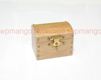 Wood Jewelry Gem Treasure Chest Box Dollhouse Miniature N142
