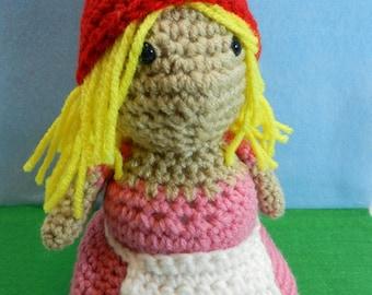 Blonde Lady Gnome Amigurumi Doll