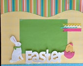 Scrapbooking Layout  Easter spring bunny chick 2 Page Kit