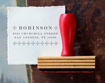 Custom Return Address Stamp // Straight Lace // typeset