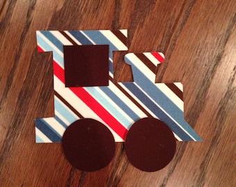 Train Iron On Appliqué, You Choose Fabric
