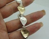 Fine Handmade Israel Organic Art Yellow Gold Silver Bracelet (I b116)