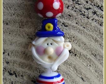 Uncle Sam Lampwork Bead Set