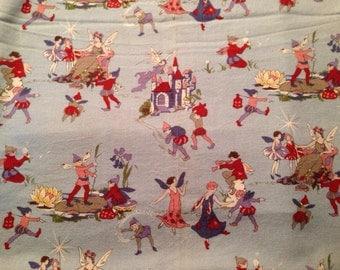 Vintage , Rare Fairy fabric
