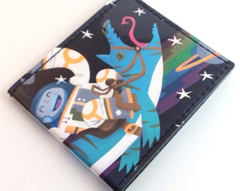 Billfold Vinyl Art Wallet - Space Race by Mike Laughead