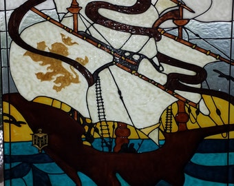 The Great boat Stained acrylic glass window