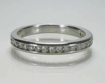 Vintage Diamond Wedding Ring -  0.25 Carat Channel Set - Twenty Two Diamonds