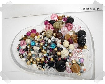 Assorted Beads/vintage- sizes and colors/Craft Supplies*