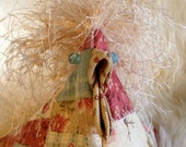 Special Listing for baby 4340 Another of the Flock- Pieced and Pink Pastel Quilted Crazy Chicken #3 Pincushion