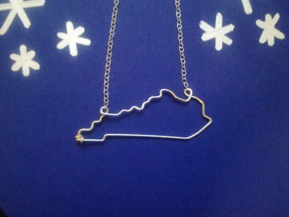 kentucky state necklace by crossedoutcreations on etsy