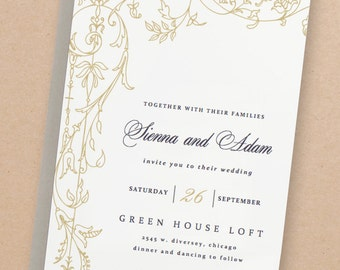 Printable Wedding Invitation Template | INSTANT DOWNLOAD | Regatta | Word or Pages | Easy DIY | Editable Artwork Colors