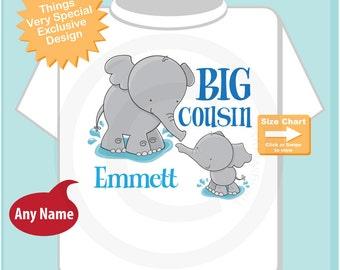 Elephant Big Cousin Shirt - Big Cousin Onesie - Big Cousin tshirt - Big Cousin t shirt -Big Cousin Onsie - Personalized Elephant (07302014h)