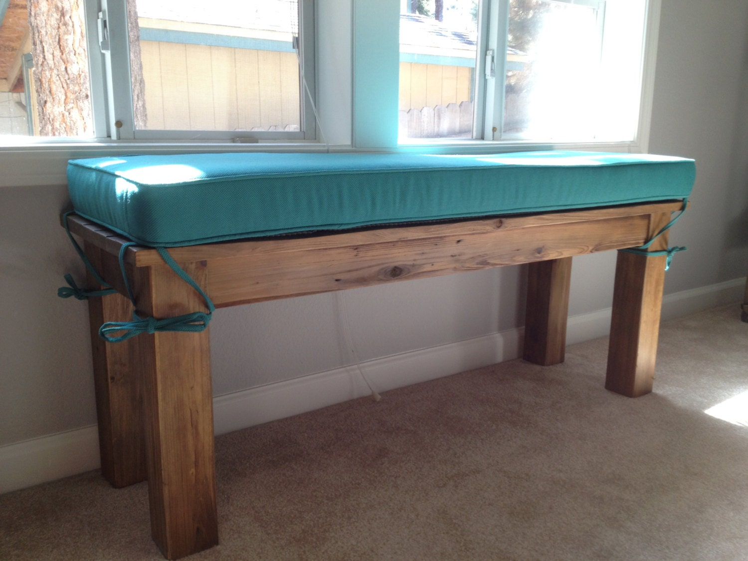 Custom Bench Cushion With Ties 48 X 15