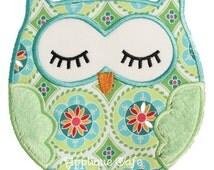 312 Sleeping Owl Machine Embroidery Applique Design