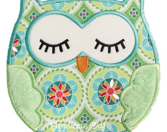 312 Sleeping Owl Machine Embroidery Applique Design