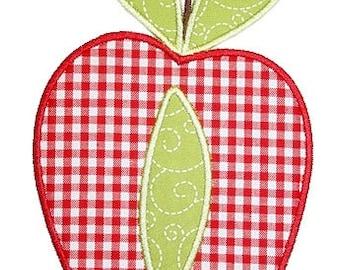 158 Apple Machine Embroidery Applique Design
