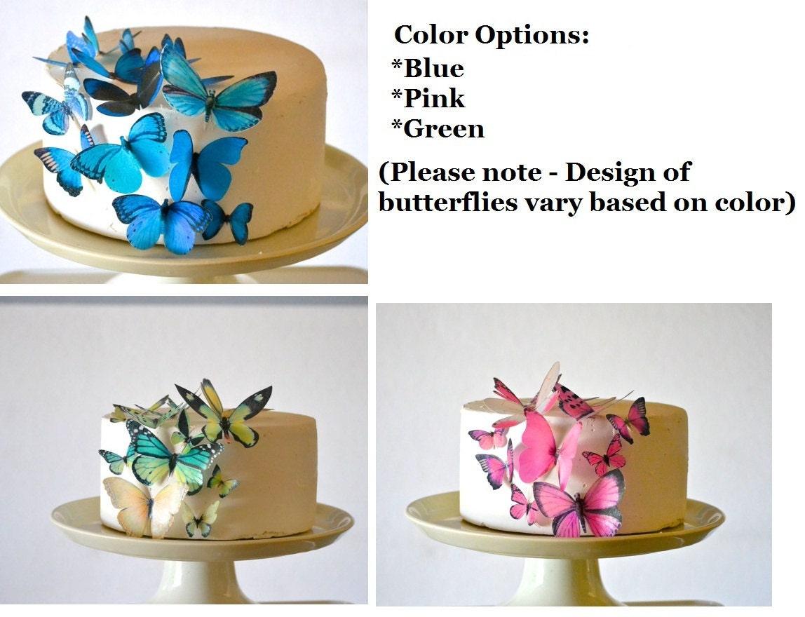 Wedding Cake Topper Edible Butterflies Assorted set of 15