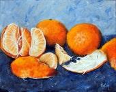 Still Life, Fruit Still Life, Painting of Oranges, Tangerine, Orange, Citrus Fruit, Still Life Oil Painting, Original Artwork, Helen Eaton