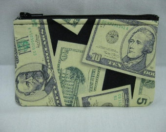 Mini Zipper Pouch Money Handmade in Iowa