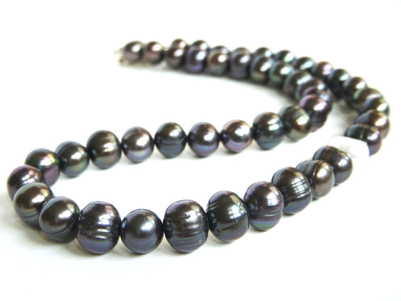 black pearl necklace choker necklace black and by beadznbling. Black Bedroom Furniture Sets. Home Design Ideas