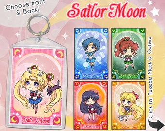 Sailor Moon Anime Keychain Double-Sided Inners, Outers, & Tuxedo Mask