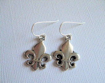 Fleur de Lis Earrings, Lily Jewelry, Birthday, Anniversary, Mother, Daughter, Sister